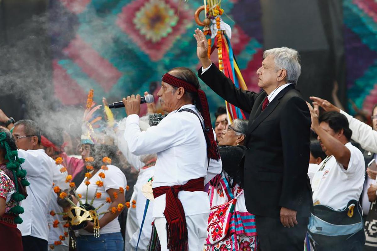 El presidente con agenda indígena
