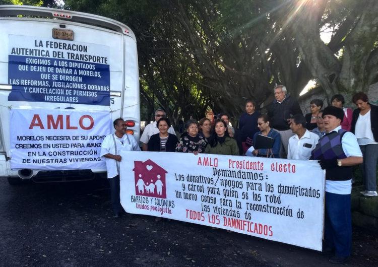 """Damnificados del 19S en Morelos: """"AMLO nos tiene que responder"""""""