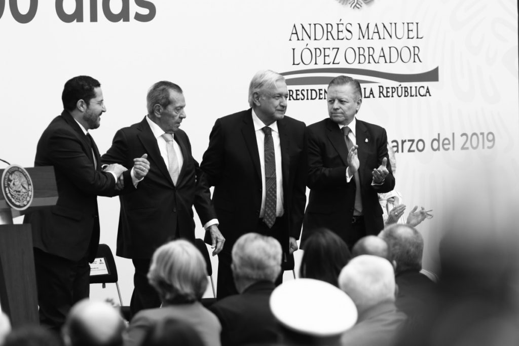 Los representantes de los tres Poderes de la Unión.