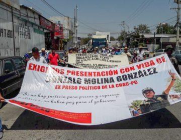Protestan en Guerrero por la desaparición  de Gonzalo Molina