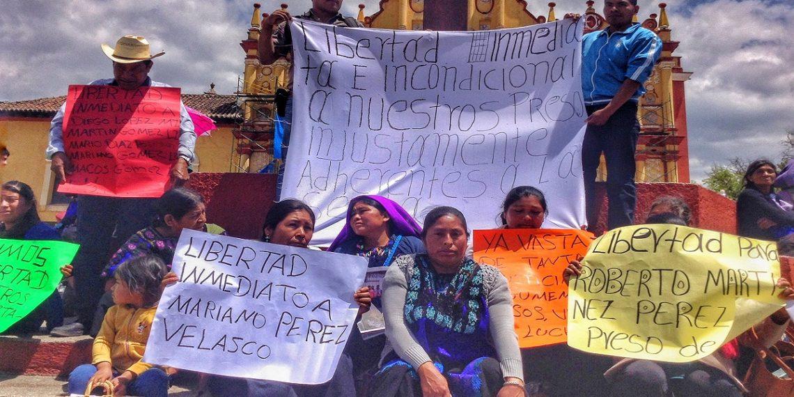 Indígenas presos en Chiapas inician huelga de hambre por su liberación