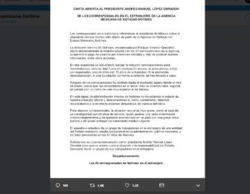 Corresponsales de Notimex denuncian abandono laboral en el extranjero