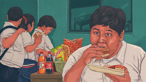 Una fábrica de niños gordos