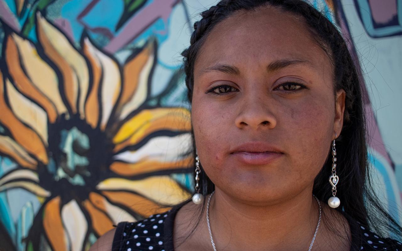 Pilar Estrada, adolescente de Ecatepec, alza la voz contra las violencias.